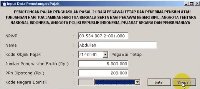 Perhitungan PPh 21 ESPT (5)