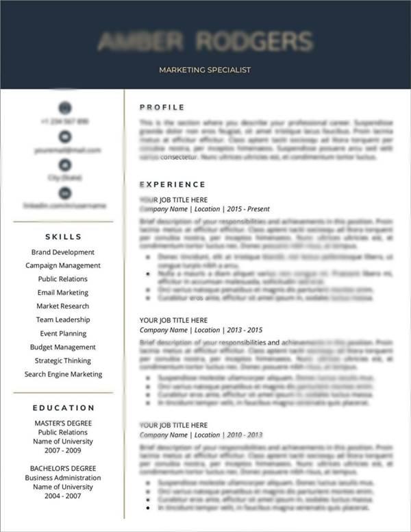 Contoh CV(curriculum vitae) Marketing