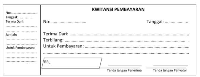 Template Kwitansi Pembayaran